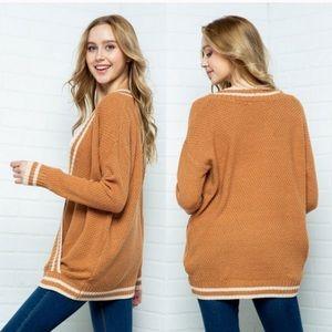 Cozy Casual Soft Surplice Sweater in Cider M/L